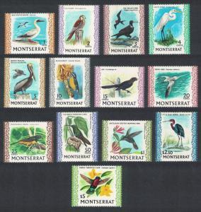 Montserrat Booby Kestrel Egret Pelican Carib Oriole Birds 13v COMPLETE 1970