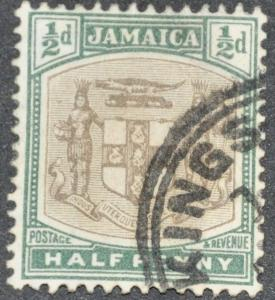 DYNAMITE Stamps: Jamaica Scott #37 - USED
