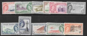 CAYMAN ISLANDS SG148/58 1953 DEFINITIVE SET TO 1/- MTD MINT