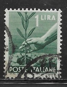 Italy 468: 1l Planting Tree, used, F-VF