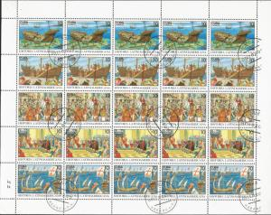 baja.J) 1992 CUBA-CARIBE, BOATS AND PEOPLE, DISCOVERY OF AMERICA, FULL SHEET