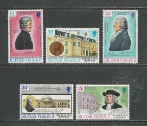 British Virgin Islands # 249-253 Unused HR