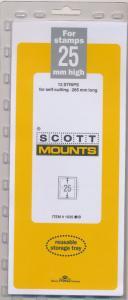 Prinz Scott Stamp Mount 25/265 BLACK Background Pack of 12