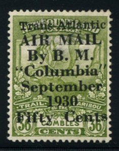 NEWFOUNDLAND: Sc.#C5  **  50¢ on 36¢ Olive Green, STUNNING example of this ...