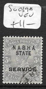 INDIA NABHA (P2609B)  KGV 3P SERVIICE SG O39A  VFU