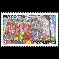 MAYOTTE 1999 - Scott# C4 Deba Fest. Set of 1 NH