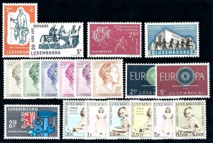 Luxembourg Luxemburg 1960 Complete Year Set MNH