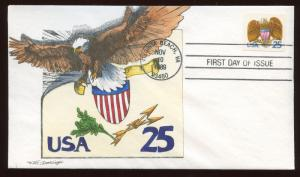 #2431 GEERLINGS HAND PAINTED FDC CACHET BM8856