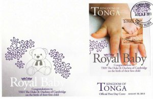 Tonga Royal Baby Prince 2013 Bear Toy (ms FDC)