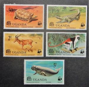 Uganda 176-80. 1977 Endangered Species