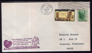 US Valentines Day Loveland,CO 1964 Cover