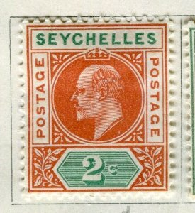 SEYCHELLES; 1906 early Ed VII issue fine Mint hinged 2c. value