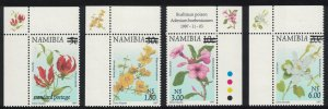 Namibia Flowers Surcharge of new values 4v Corners SG#859-862