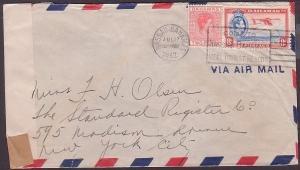 BAHAMAS 1942 censor cover to USA ex Nassau.................................35851