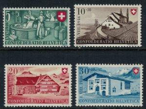 Switzerland #B154-7* NH  CV $9.50