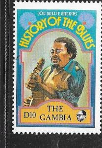 Gambia #1189  10d History of the Blues (MNH) CV $3.00