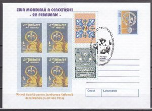 Romania, 2001 issue. 27/JUN/01. Scout Cancel on a Postal Envelope.^