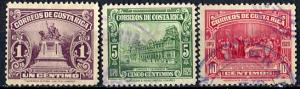 Costa Rica; 1930: Sc. # 151//156: O/Used Cpl. Set
