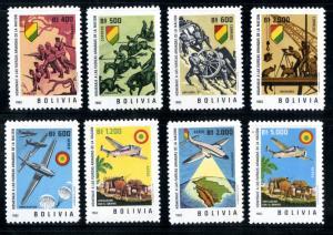 BOLIVIA 463-6,C241-4 MNH SCV $6.10 BIN $3.50