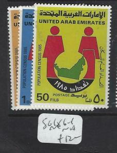 UNITED ARAB EMIRATES   (P1404B)  CENSUS  SG 186-8    MNH