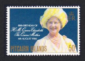 Pitcairn 80th Birthday of Queen Elizabeth the Queen Mother 1v SG#206 SC#193