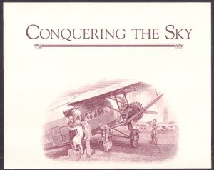 Conquering the Sky: AIRMAIL related engraving cut from ABNC repro sheet QUALITY!