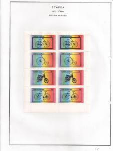 SCOTLAND - STAFFA - 1977 - Bicycles - Perf 8v Sheet - M L H