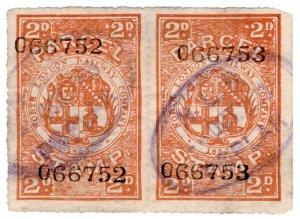 (I.B) North London Railway : Parcel Stamp 2d (Poplar)