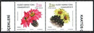 Turkish Cyprus. 2019. Cacti, flora. MNH.