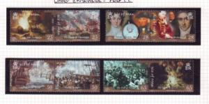 Isle of Man Sc 1082-5 2005 Trafalgar stamp set mint NH