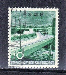 JAPAN SCOTT# 819  1964  10y  TOKYO EXPRESSWAY CROSSING SEE SCAN