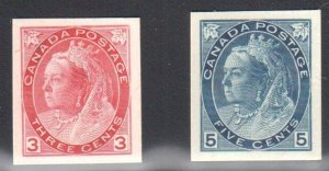 Canada #78p + 79p XF Select Proof on Card