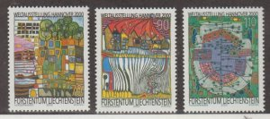 Liechtenstein Scott #1179-1180-1181 Stamps - Mint NH Set