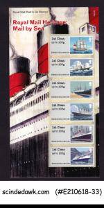 GREAT BRITAIN - 2018 ROYAL MAIL HERITAGE-MAIL BY SEA / SHIP 6-STAMPS IN PACK
