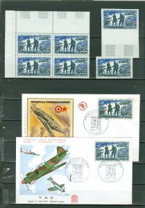 FRANCE  HISTORIC LOT of NORMANDY-NIEUMAN AVIATORS SQUAD..FOUGHT WITH RUSSIANS