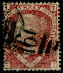 SG52, 1½d lake-red PLATE 3, USED. Cat £70. TI