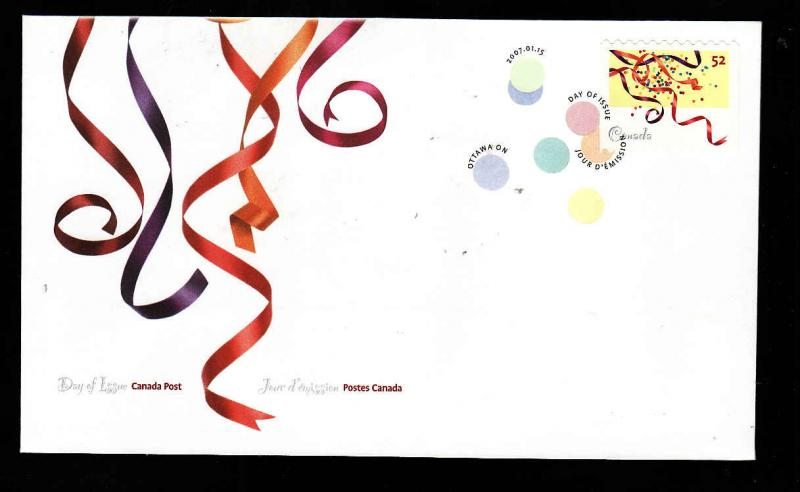 Canada-Sc#2203-stamp on FDC-Celebrations-2007
