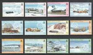 2003 BRITISH ANTARTIC TERRITORY-  SG:377/88 - BASES & POSTMARKS - UNMOUNTED MINT