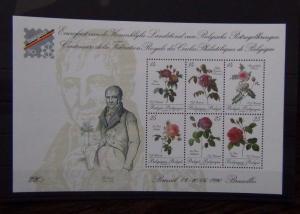 Belgium 1990 Belgica 90 International Stamp Exhibition Miniature Sheet MNH