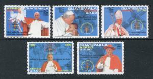 Guatemala C858-C862, MNMH, Visit of Pope John Paul II 1996. x28435