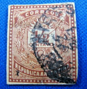 ARGENTINA  1882  -  SCOTT # 43b  -   USED   (X1)