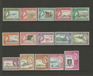 British Virgin Islands 1964 Complete Set Of 15 unmounted mint CV £80 SG178-SG192