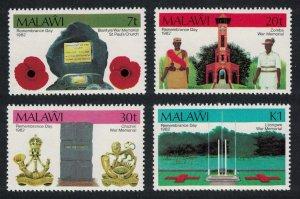 Malawi Remembrance Day War Memorials 4v SG#662-665