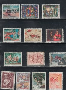 FRANCE ART LOVERS SPECIAL 25 DIFF BEAUTIFUL ART  STAMPS $9.95