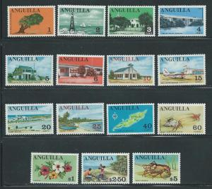 Anguilla 17-31 1967-8 Definitives set MNH