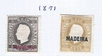 MADEIRA 1871 #16 , 22 SCV $41.00  MH AT 15% OF CAT VALUE