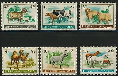 Lebanon 453-8 MNH Animals, Horses, Cows, Goats, Sheep, Camels, Donkey