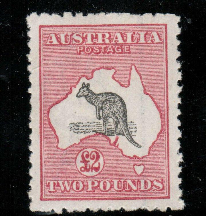 Australia #59 Very Fine Mint Full Original Gum Lightly Hinged Watermark Crown