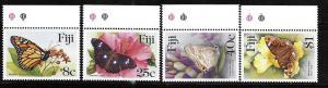 Fiji 1985 Butterflies Sc 523-526 MNH A397