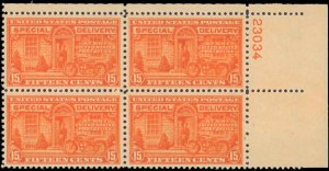 United States #E16, Complete Set, Plate Block, 1931, Never Hinged